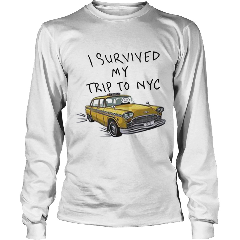 Tom Holland Spider Man I Survived My Trip To NYC Taxi Longsleeve Tee