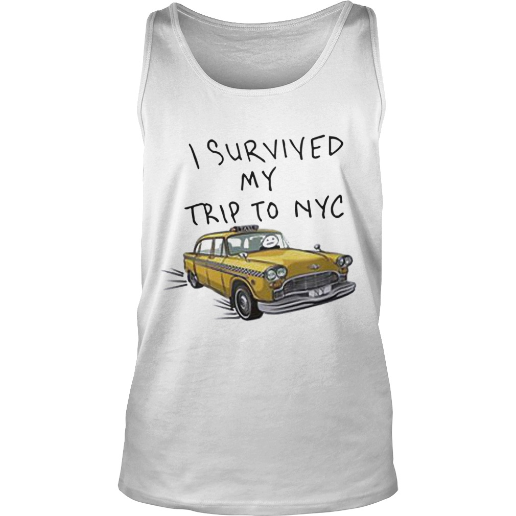 Tom Holland Spider Man I Survived My Trip To NYC Taxi Tank Top