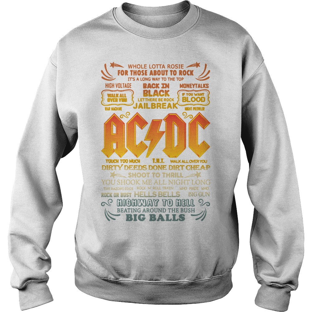 Whole Lotta Rosie For Those About To Rock Ac Dc Shoot To Thrill Sweater