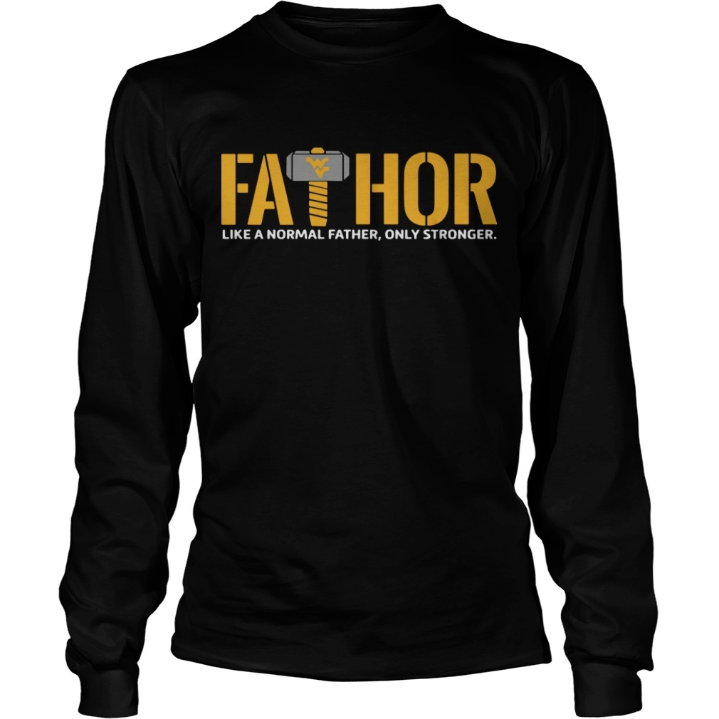 Wonder Women Logo Fathor Like A Normal Father Only Stronger Longsleeve Tee