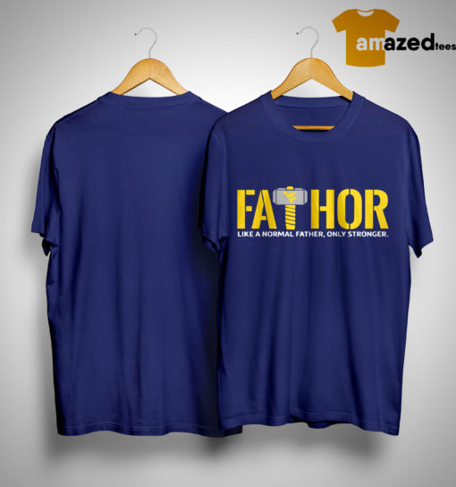Wonder Women Logo Fathor Like A Normal Father Only Stronger Shirt