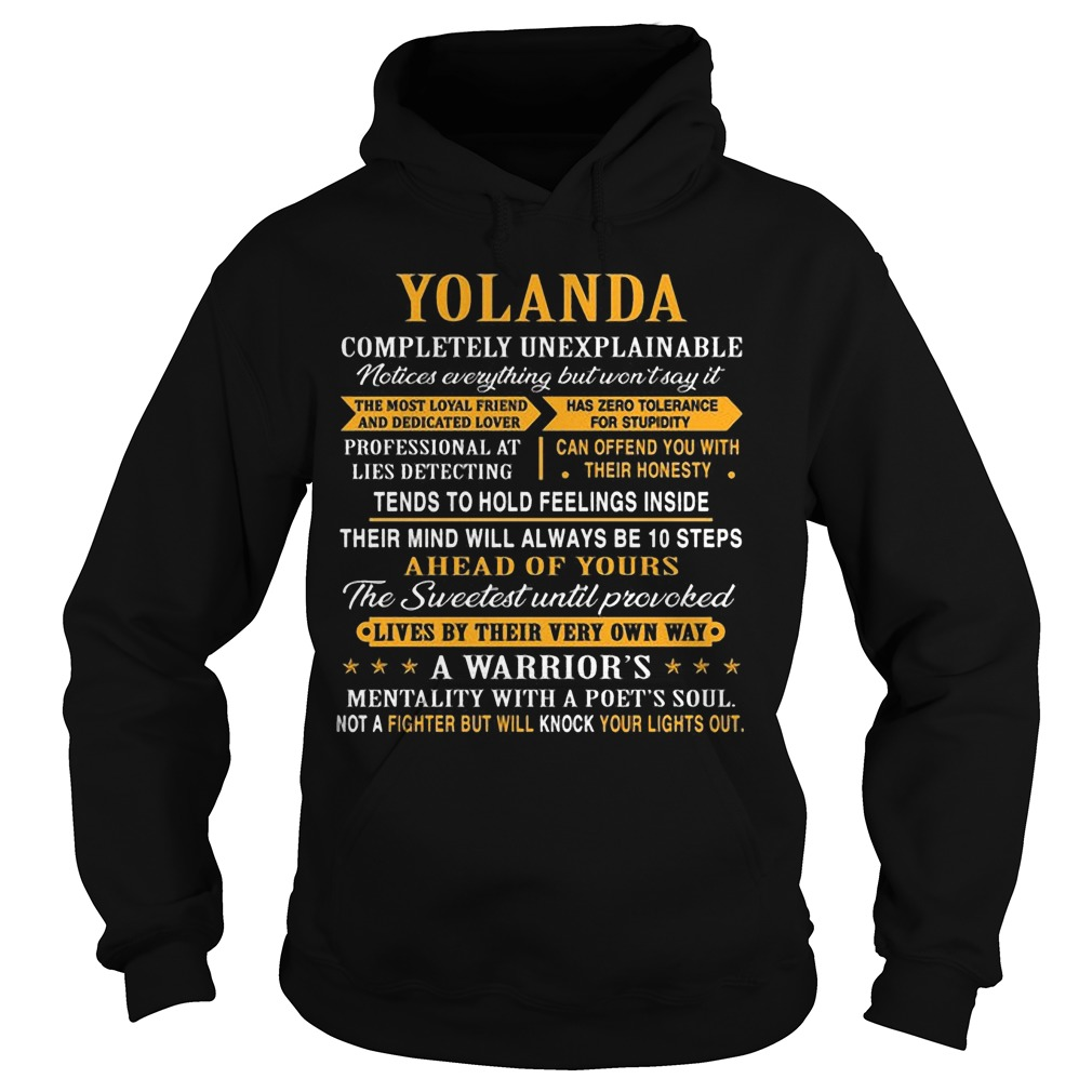 Yolanda Completely Unexplainable Notices Everything But Won't Say It Hoodie