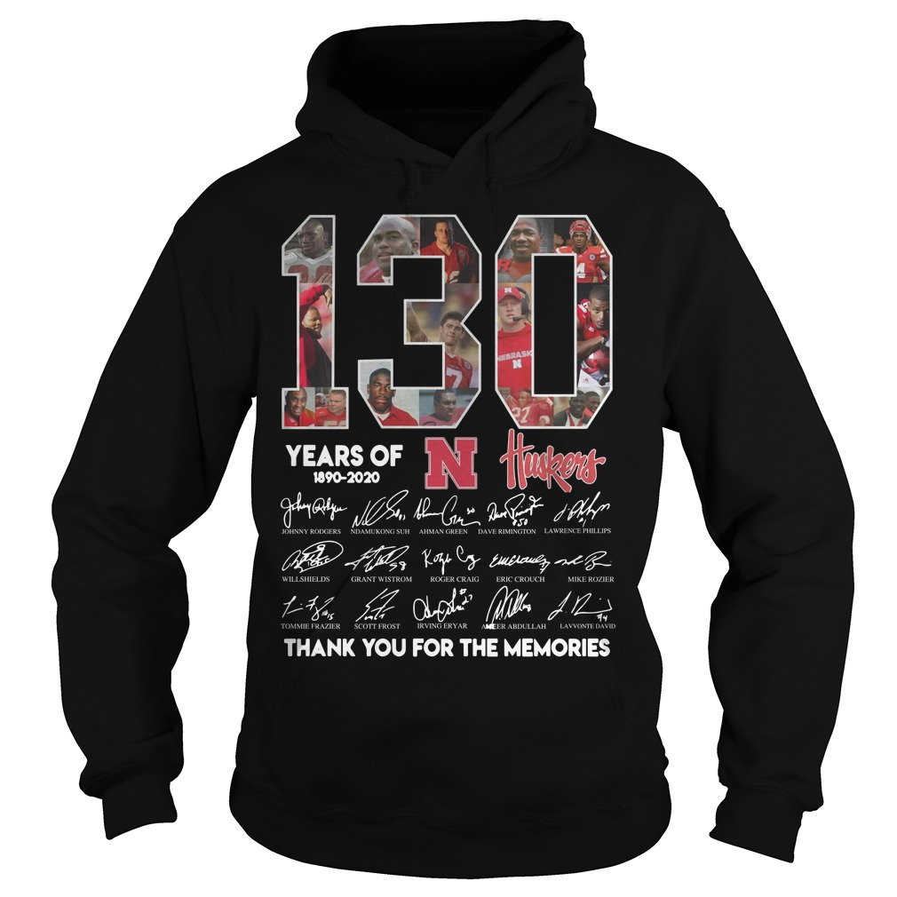 130 Years Of N Huskers 1890 2020 Thank You For The Memories Hoodie