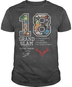 18 Grand Slam Rafael Nadal 12 French Open 3 Us Open 2 Wimbledon Shirt