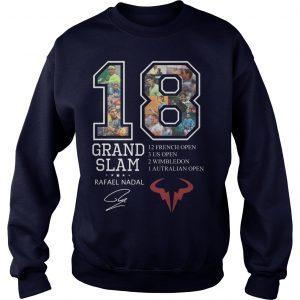 18 Grand Slam Rafael Nadal 12 French Open 3 Us Open 2 Wimbledon Sweater