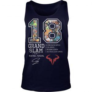 18 Grand Slam Rafael Nadal 12 French Open 3 Us Open 2 Wimbledon Tank Top
