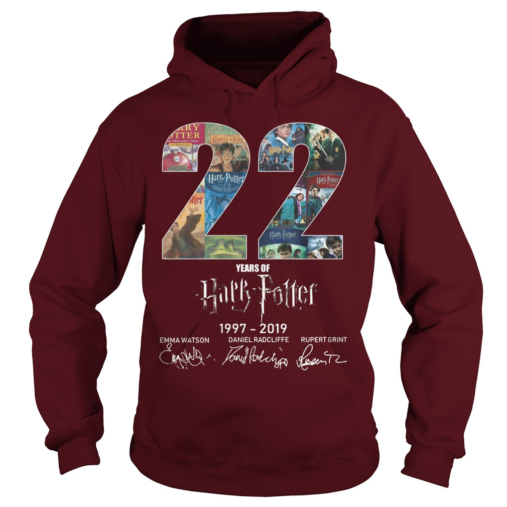 22 Years Of Harry Potter 1997 2019 Hoodie