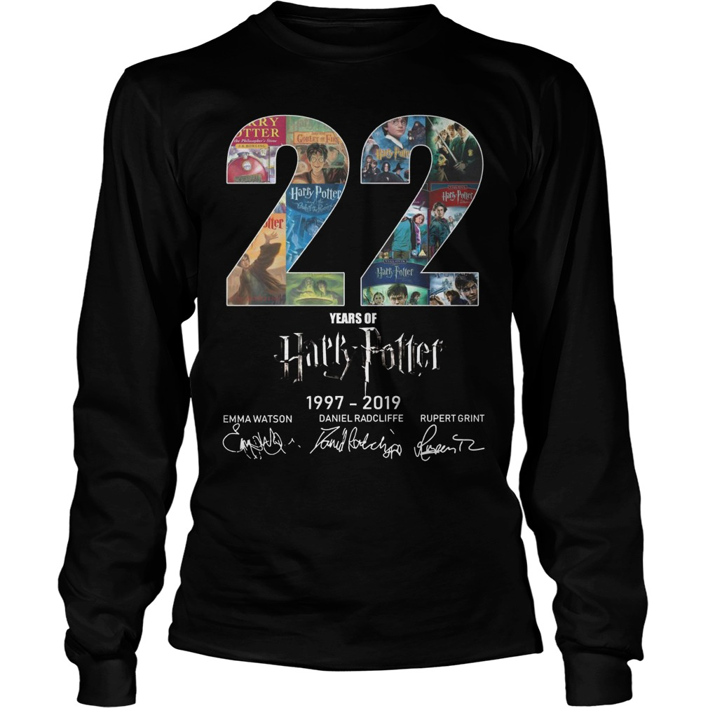 22 Years Of Harry Potter 1997 2019 Longsleeve Tee