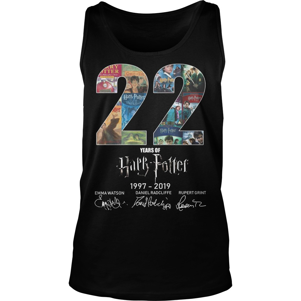 22 Years Of Harry Potter 1997 2019 Tank Top