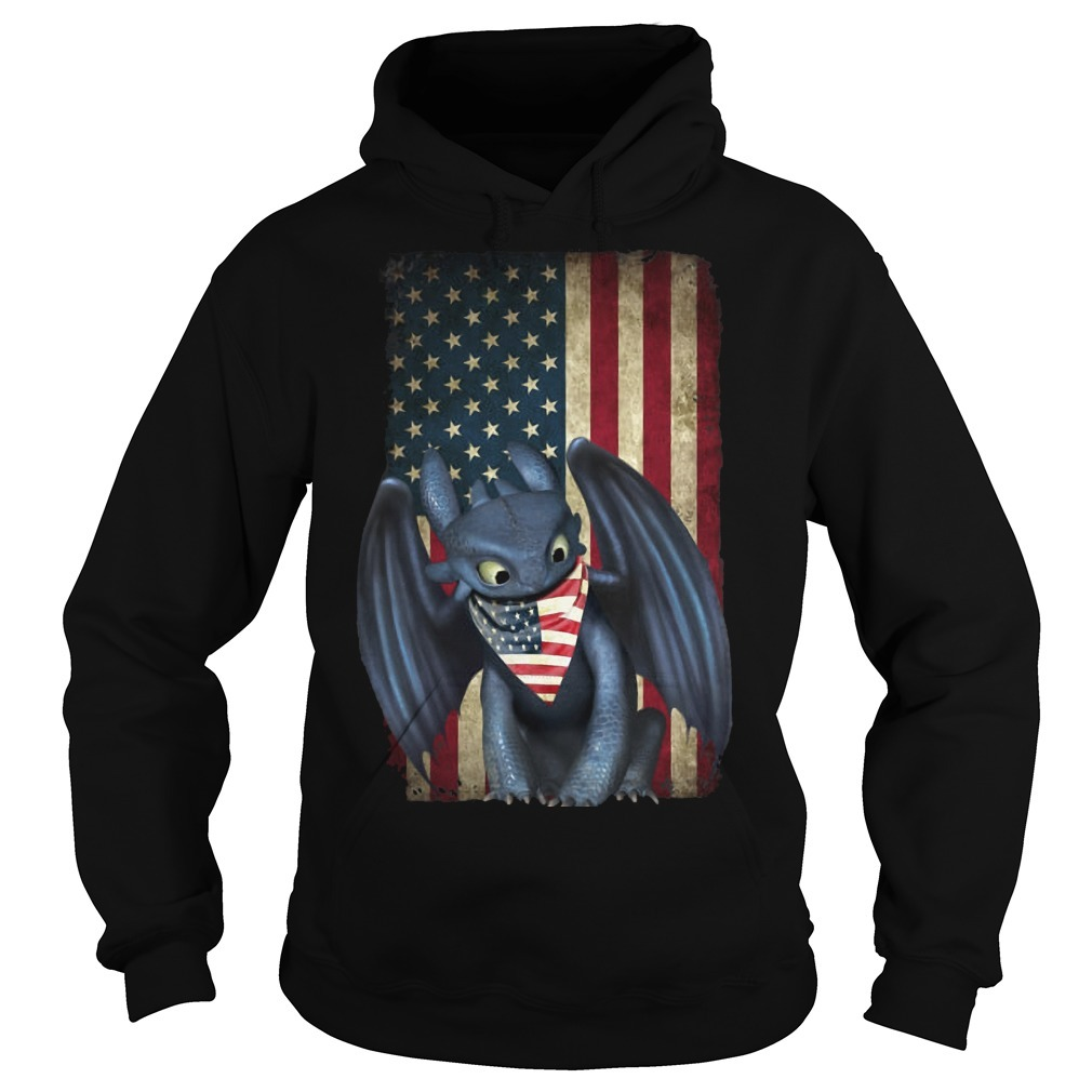 4th Of July American Flag Toothless Hoodie