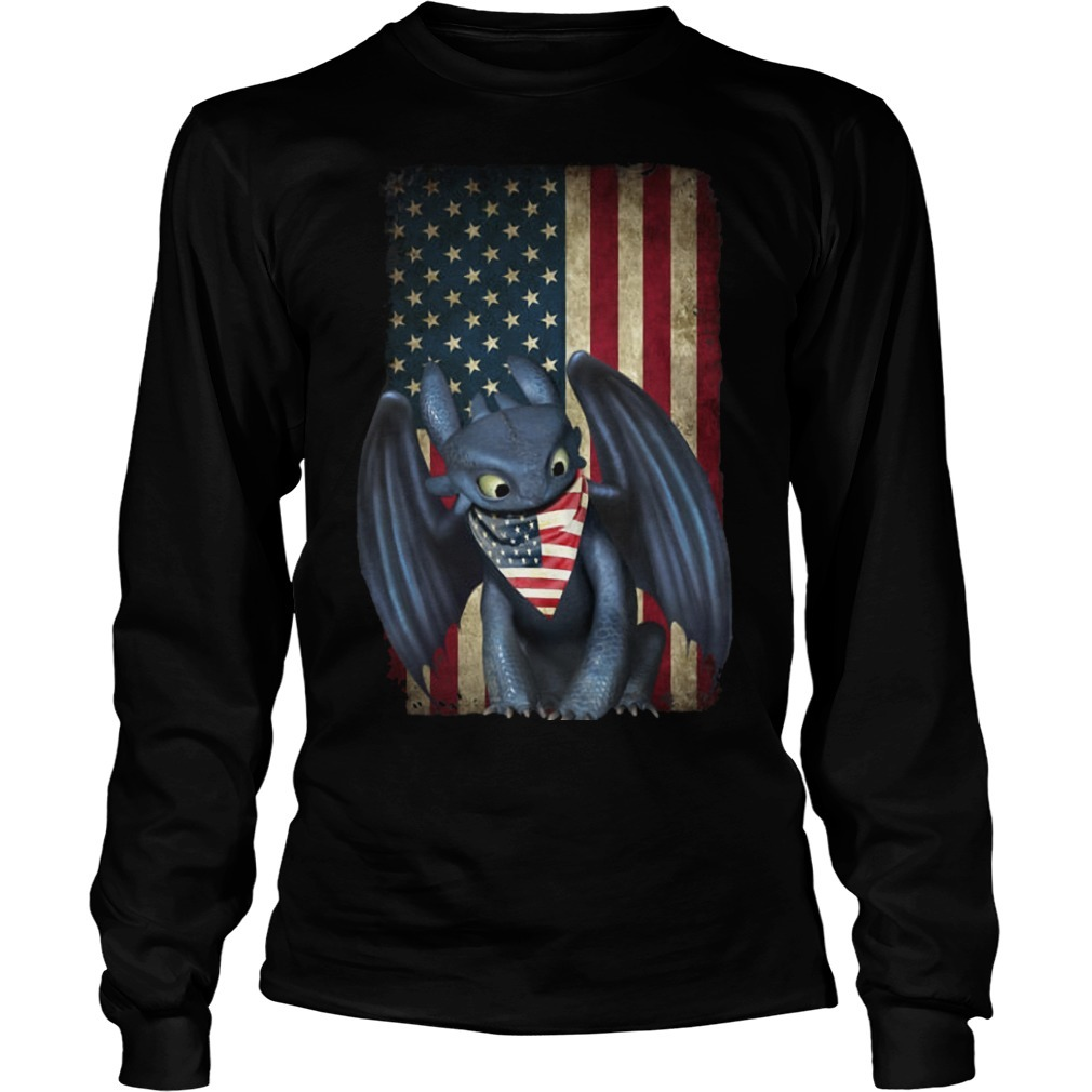 4th Of July American Flag Toothless Longsleeve Tee