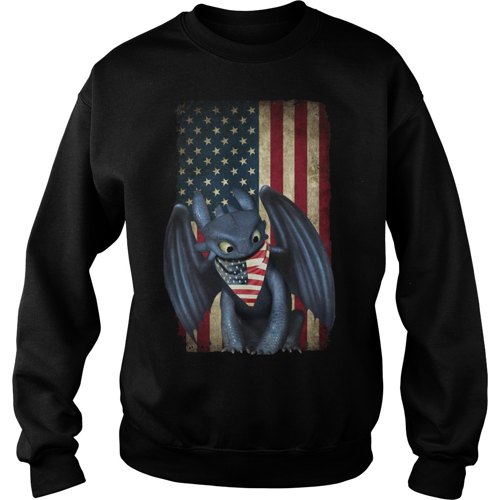 4th Of July American Flag Toothless Sweater