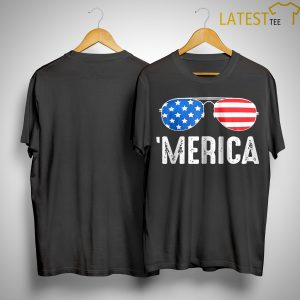 4th Of July Merica Usa American Pride Sunglasses Shirt