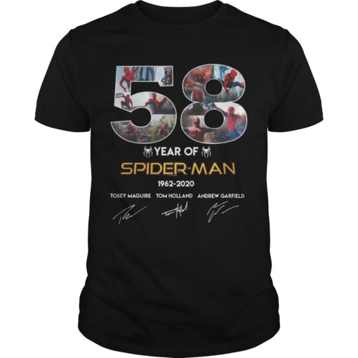 58 Year Of Spider Man 1962 2020 Shirt