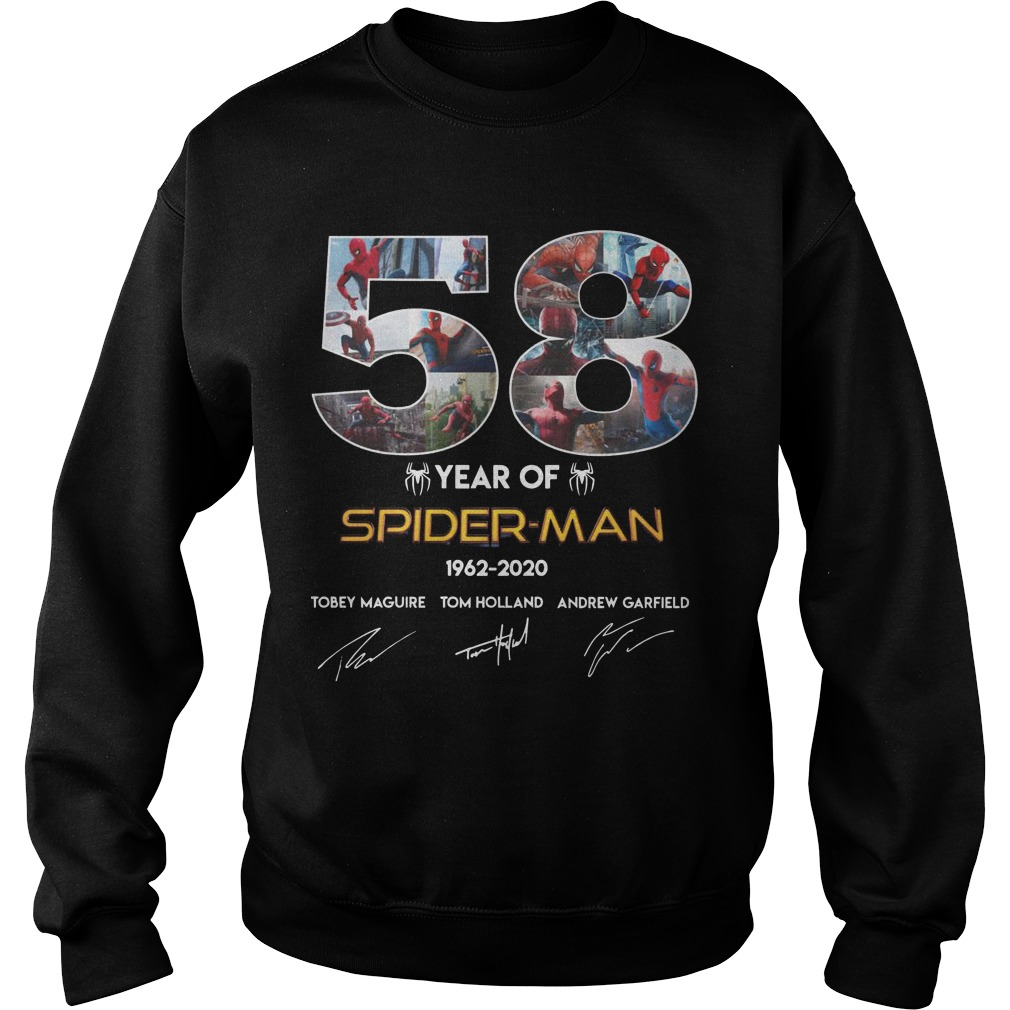 58 Year Of Spider Man 1962 2020 Sweater