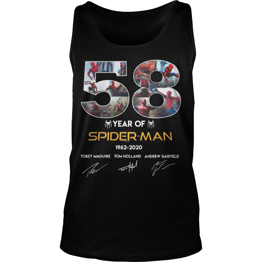 58 Year Of Spider Man 1962 2020 Tank Top