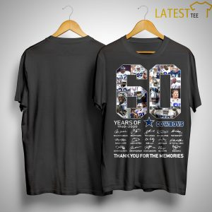 60 Years Of Cowboys 1960 2020 Thank You For The Memories Shirt