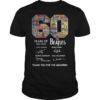 60 Years Of The Beatles 1960 2020 Thank You For The Memories Shirt