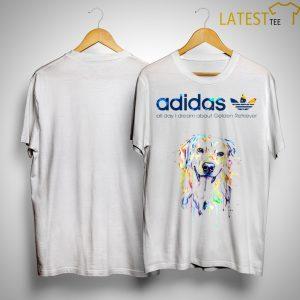 Adidas All Day I Dream About Golden Retriever Shirt