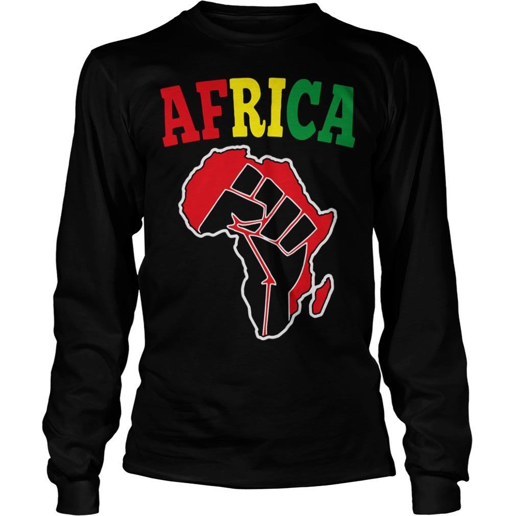 Africa Black Power Longsleeve Tee