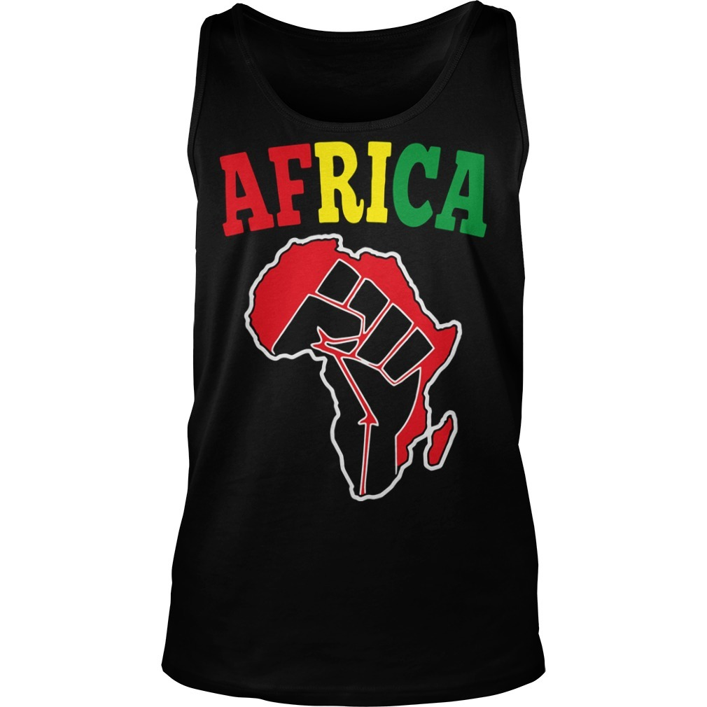 Africa Black Power Tank Top