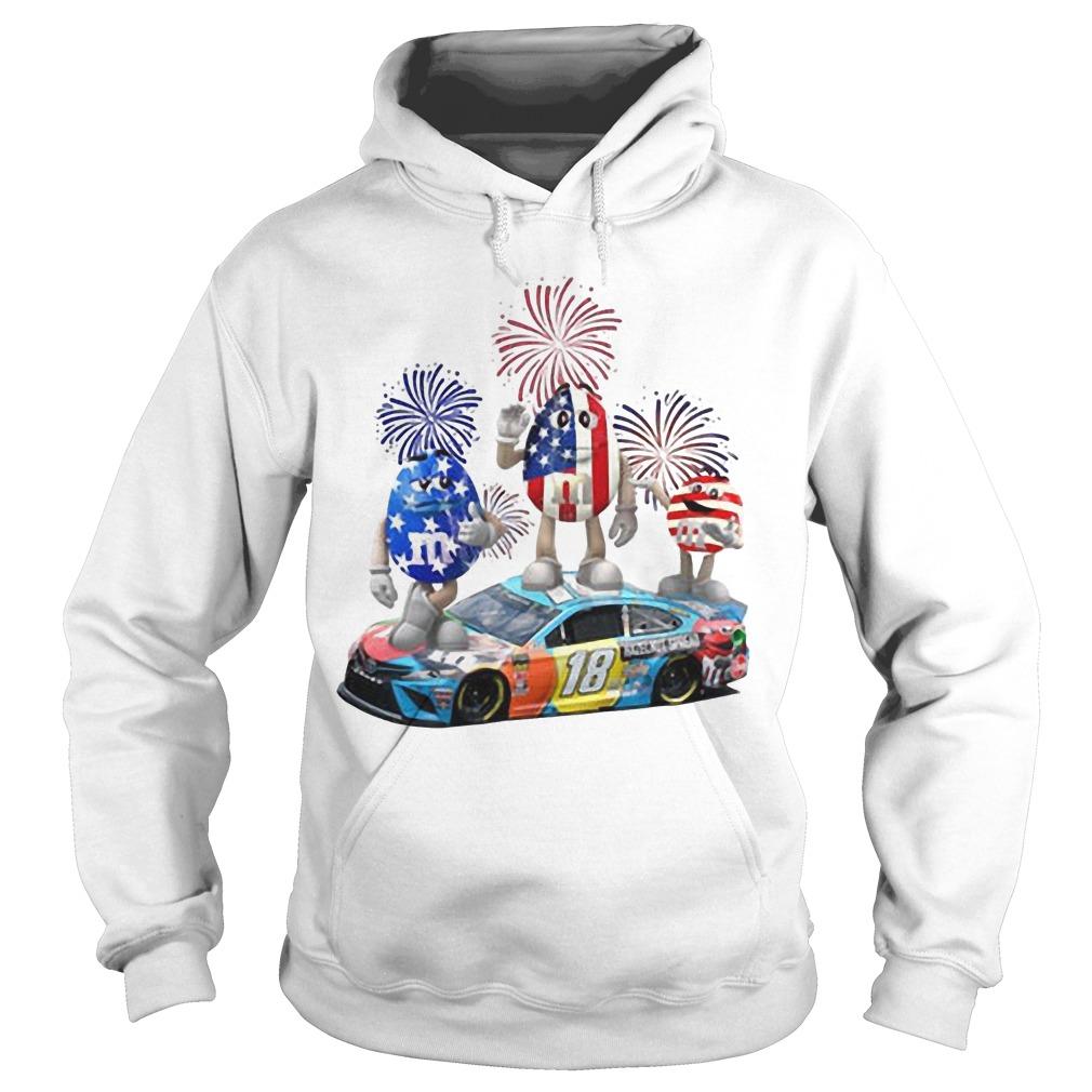 American Flag 18 M&M Nascar Hoodie