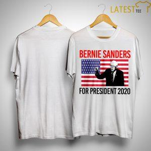 American Flag Bernie Sander For Presidents 2020 Shirt