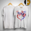 American Flag Butterfly Sunflower Shirt