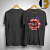 American Flag Sunflower Fox Racing Shirt