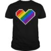 Austin Creed Rainbow Pixel Heart Pride Shirt