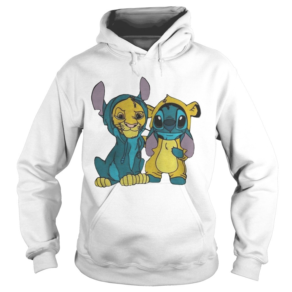 Baby Simba And SBaby Simba And Stitch Best Friend Hoodietitch Best Friend Hoodie