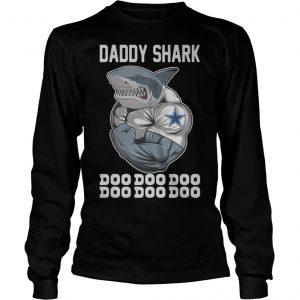 Body Building Dallas Cowboy Daddy Shark Doo Doo Doo Longsleeve Tee