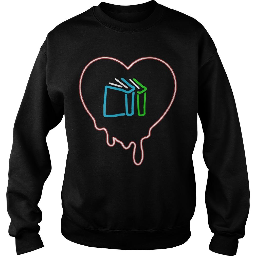 Books Melt My Heart Neon Light Sweater