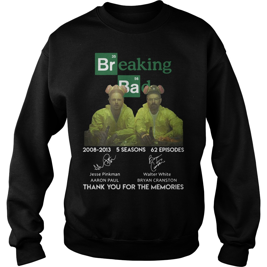 Breaking Ba 2008 2013 5 Seasons 62 Episodes Thank You For The Memories Sweater