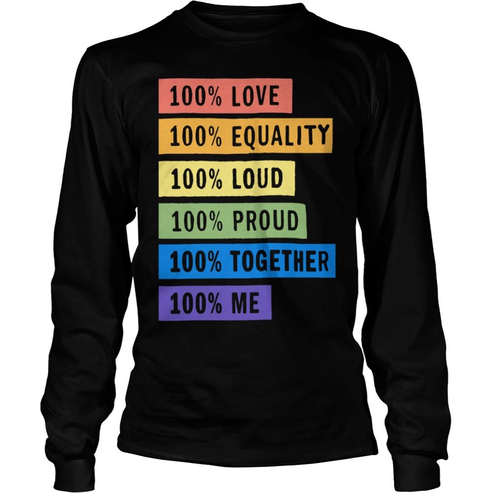 Brendon Urie's 100% Pride Longsleeve Tee