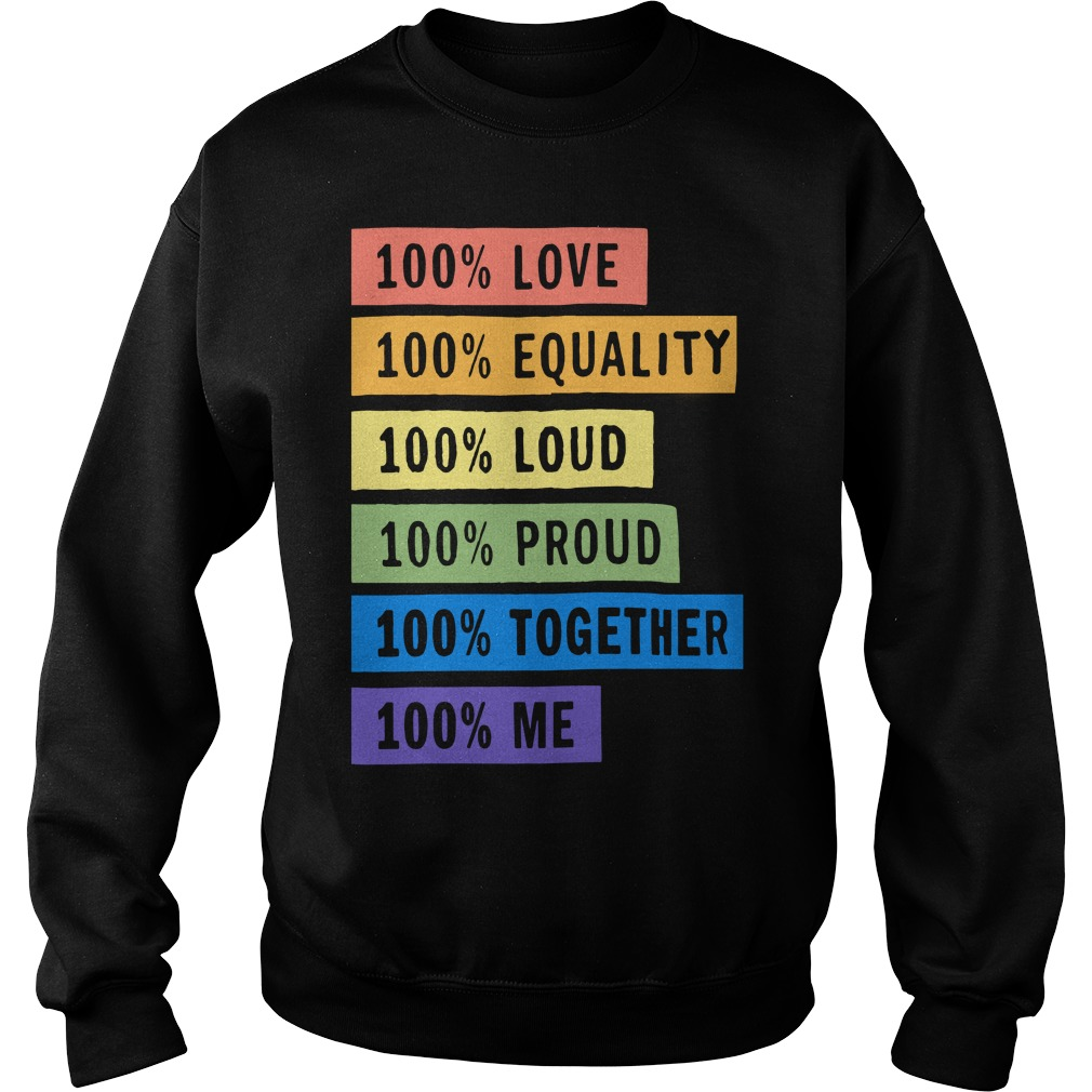 Brendon Urie's 100% Pride Sweater