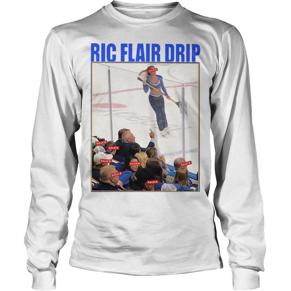 Brett Hull Ric Flair Drip Long Sleeve Tee