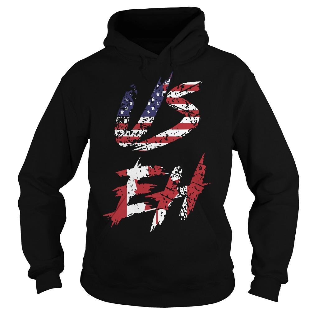 Canadian American US EH Canada Day Hoodie