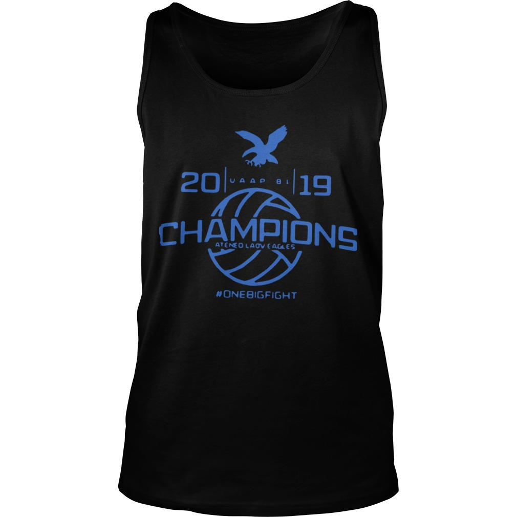 Champions Ateneo Lady Eagles 2019 #Onebigfight Tank Top