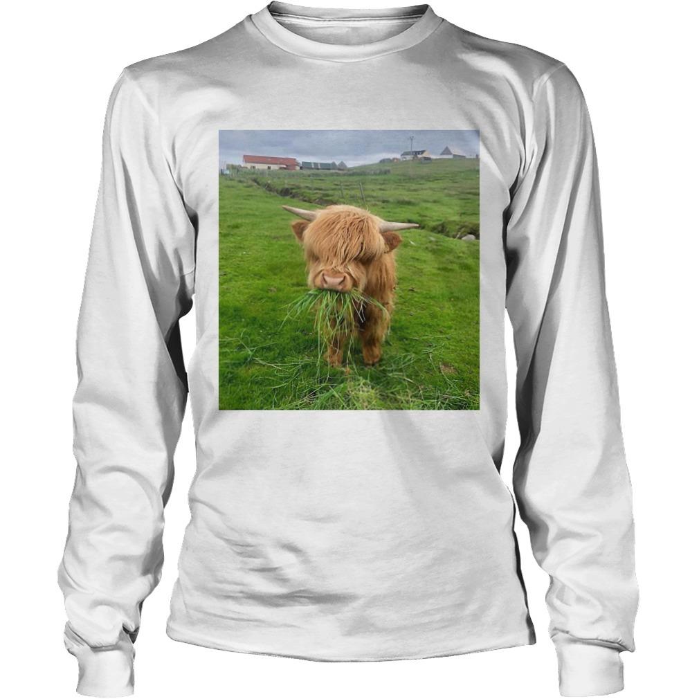 Cute Scottish Highland Cattle Long SLeeve Tee