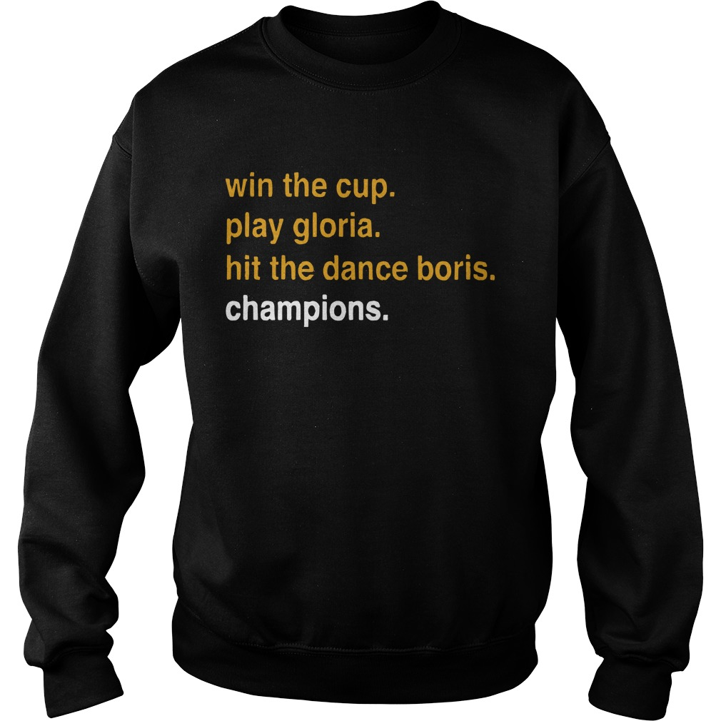 Dave Portnoy Win The Cup Play Gloria Hit The Dance Boris Champions Sweater