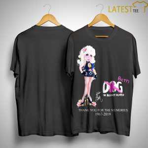 Dog Beth The Bounty Hunter Thank You For The Memories 1967 2019 Shirt