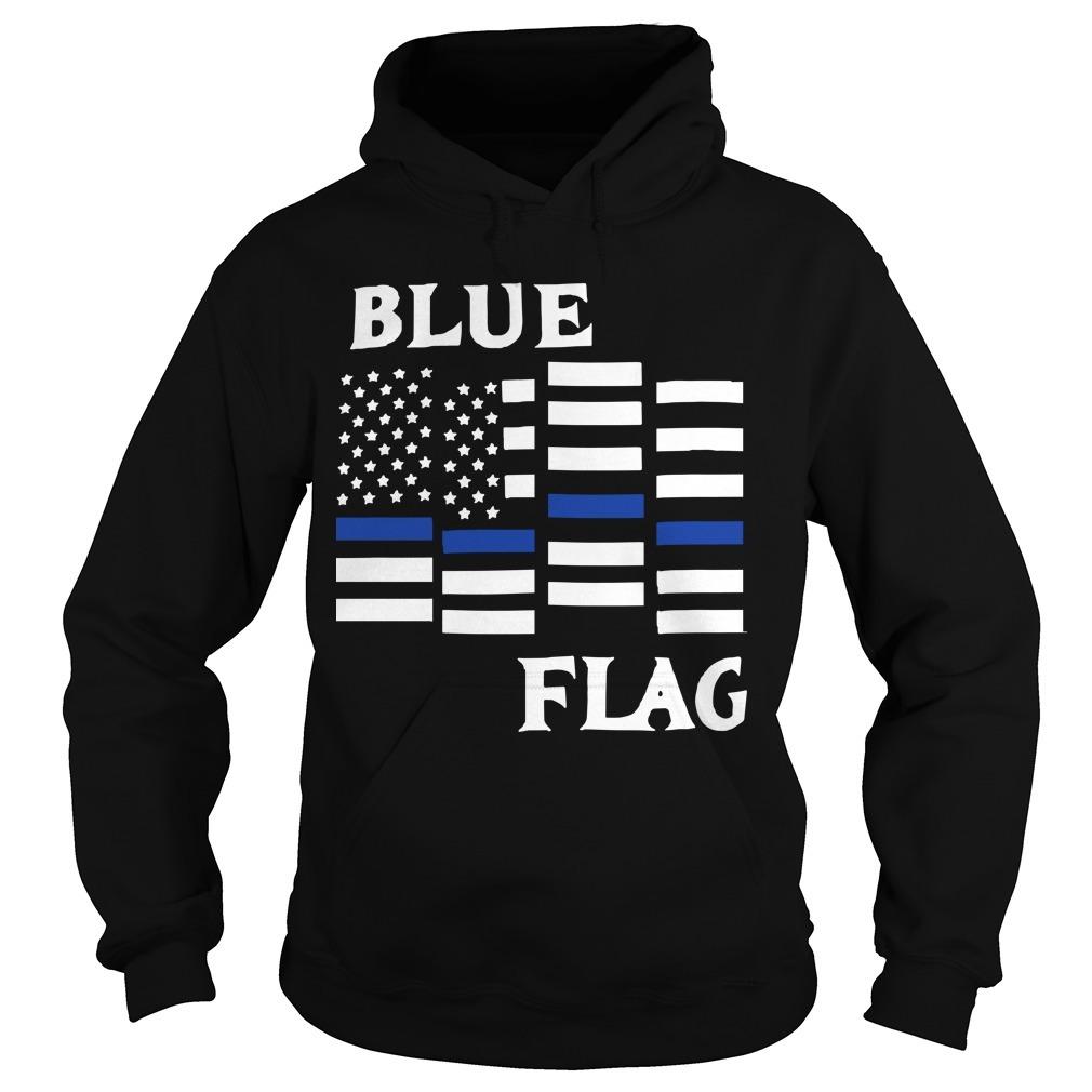 Espresso Depresso Blue Flag Hoodie