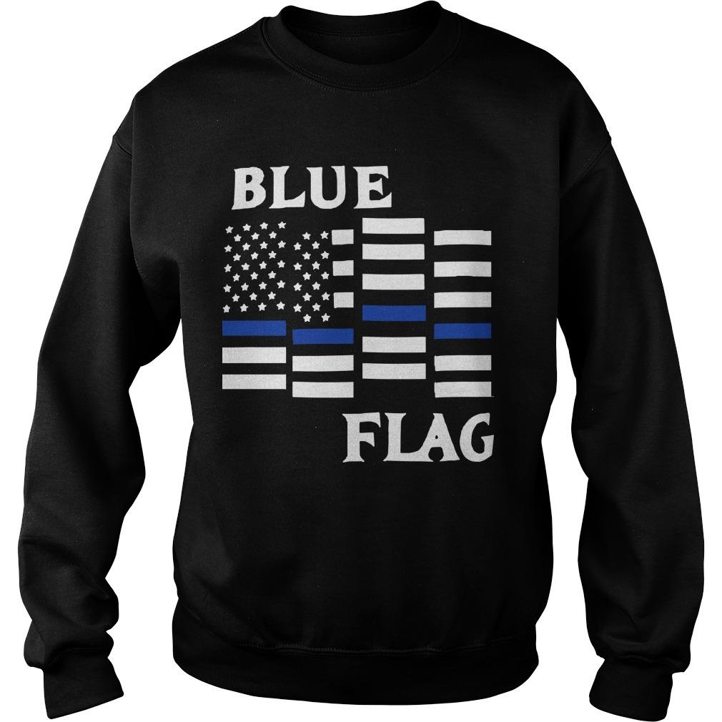 Espresso Depresso Blue Flag Sweater