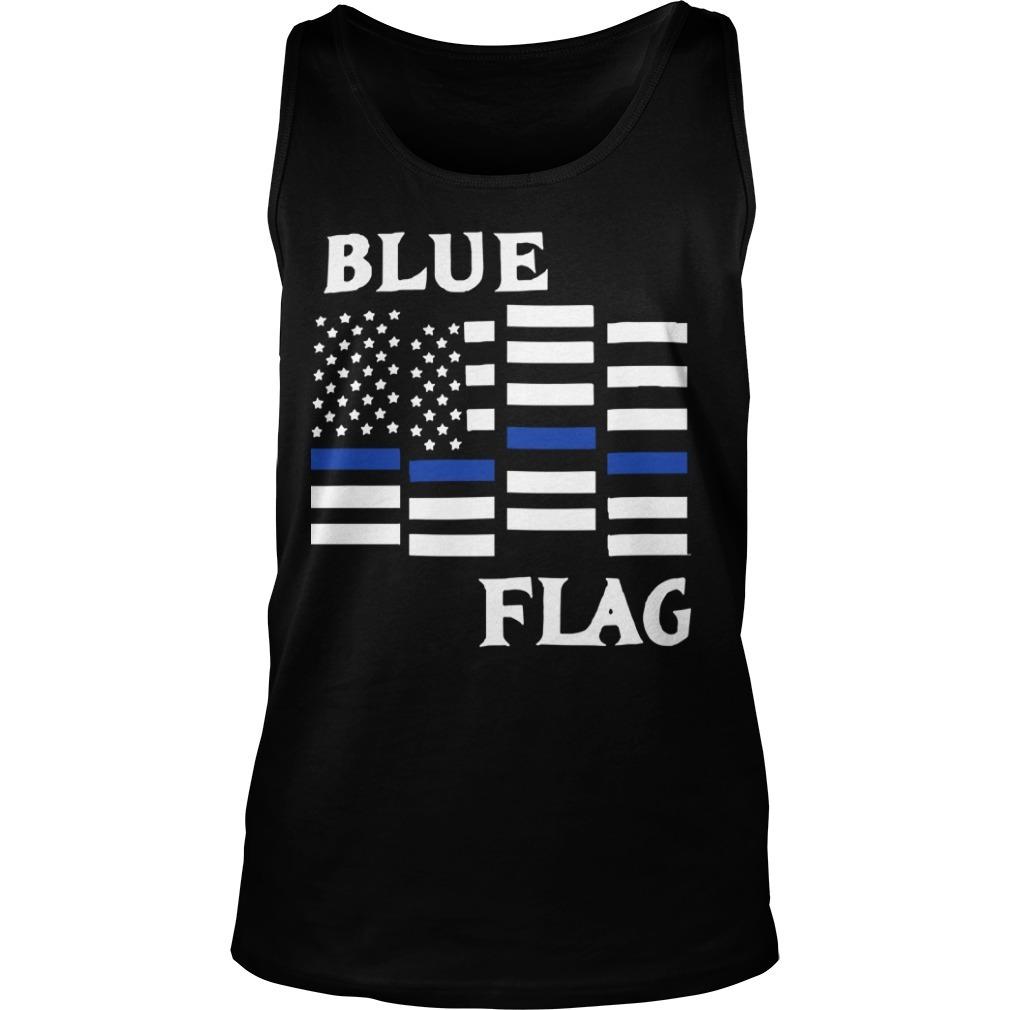 Espresso Depresso Blue Flag Tank Top