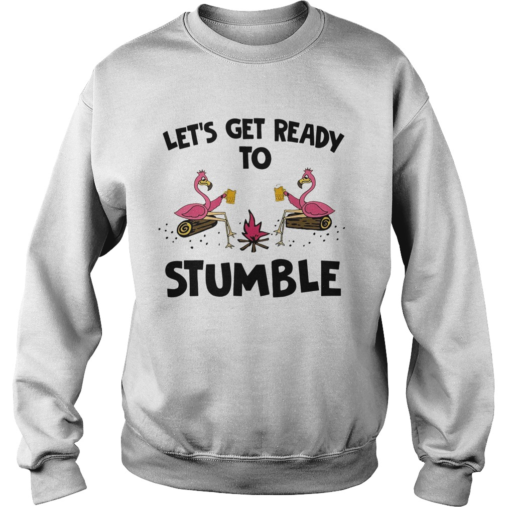 Flamingo Let's Get Ready To Stumble Sweater