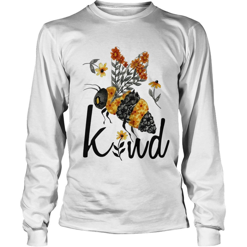 Flower Bee Kind Longsleeve Tee