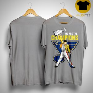 Freddie Mercury St Louis Blues We Are The Champions Shirt