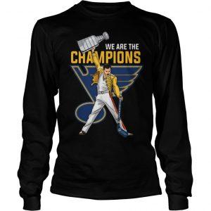 Freddie Mercury St. Louis Blues We Are The Champions Longsleeve Tee