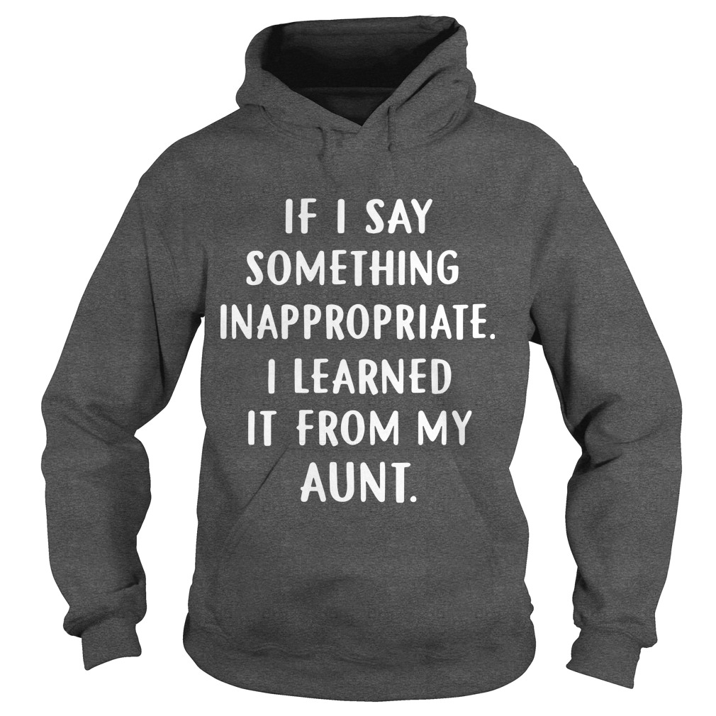 If I Say Something Inappropriate I Learned It From My Aunt Hoodie